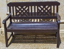 Beautiful historical park bench royalty free stock images