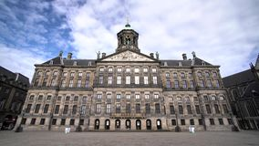 The beautiful and historical Royal Palace of Amsterdam stock video footage