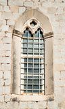 Beautiful historical window in Mediterranean style Royalty Free Stock Photo
