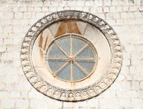 Beautiful historical window in Mediterranean style Stock Image