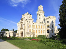 Beautiful Hluboka Castle in Czech Republic. Royalty Free Stock Photography