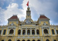 Beautiful Ho Chi Minh City Hall, Vietnam.  Royalty Free Stock Image