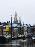 Groningen 1. The beautiful Hoge Der Aa in the Dutch city of Groningen, during winter Royalty Free Stock Photos