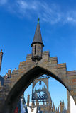 Beautiful Hogsmeade Village. OSAKA, JAPAN - May 25 2017: Beautiful Hogsmeade Village at Wizarding World of Harry Potter, Universal Studios Japan USJ Stock Photography