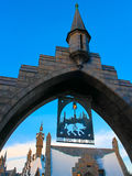Beautiful Hogsmeade Village. OSAKA, JAPAN - Nov 5 2016: Beautiful Hogsmeade Village at Wizarding World of Harry Potter, Universal Studios Japan USJ Stock Photos
