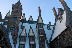 Beautiful Hogsmeade Village. OSAKA, JAPAN -  Beautiful Hogsmeade Village at Wizarding World of Harry Potter, Universal Studios Japan USJ Royalty Free Stock Photos