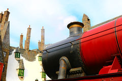 Beautiful Hogsmeade Village. OSAKA, JAPAN -  Beautiful Hogsmeade Village at Wizarding World of Harry Potter, Universal Studios Japan USJ Stock Photo