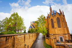 The beautiful Hohenzollern castle from inner yard Royalty Free Stock Image