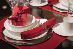 Beautiful holdiay table setting Royalty Free Stock Photography
