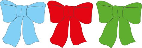 Festive bows. Decorations for all holidays. Beautiful and the holiday decorations, bows. Necessary for decoration and design. Give the holiday, the emotions Stock Photo