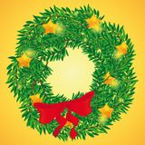 Beautiful holiday wreath for Christmas stock photos