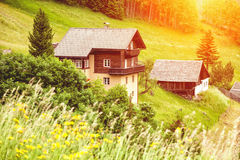 Beautiful holiday home in the Alps Royalty Free Stock Image