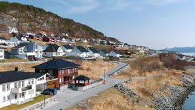 Beautiful holiday houses in Norway stock video