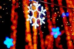 Beautiful holiday illumination. New Year decoration in a park. Beautiful holiday illumination close up Royalty Free Stock Image