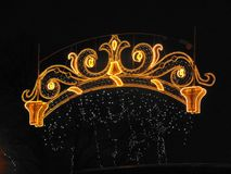 Beautiful holiday lights in the night city royalty free illustration