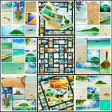 Beautiful holiday pictures. Collage  with beautiful holiday pictures of tropical beach Stock Photography