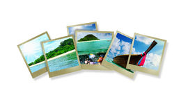 Beautiful holiday pictures. Collage  with beautiful holiday pictures of tropical beach Royalty Free Stock Image