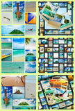 Beautiful holiday pictures. Collage  with beautiful holiday pictures of tropical beach Stock Image