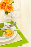 Beautiful holiday table setting Royalty Free Stock Photos