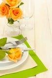 Beautiful holiday table setting Royalty Free Stock Photos