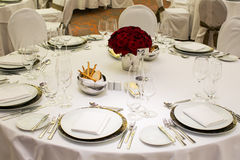 Beautiful holiday table setting Stock Photography
