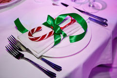 Beautiful holiday table setting Stock Photos
