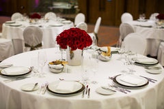Beautiful holiday table setting Stock Images
