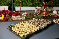 Beautiful holiday table setting Stock Image
