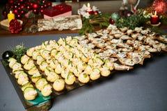 Beautiful holiday table setting Stock Photo