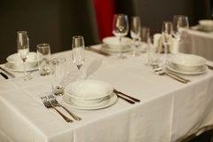 Beautiful holiday table setting Royalty Free Stock Image