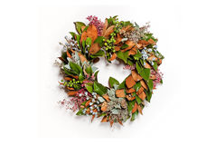 Beautiful Holiday Wreath Royalty Free Stock Photos