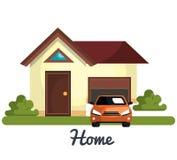 Beautiful home design Stock Photography