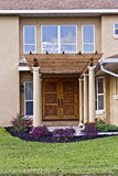Beautiful Home Entry. Welcoming entry with covered walkway Stock Photos