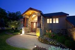 Free Beautiful Home Entryway At Dusk Stock Photos - 9760673