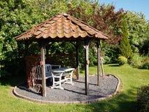 Beautiful home garden gazebo pavilion Stock Photography