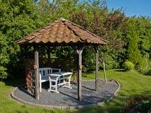 Beautiful home garden gazebo pavilion Stock Photos