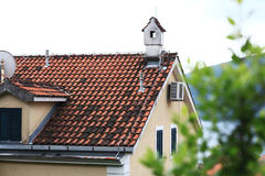 Beautiful home with red roof Royalty Free Stock Image