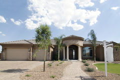 Beautiful home up for sale. In Arizona Stock Photo
