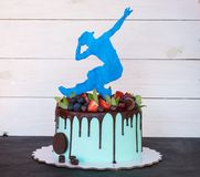 Free Beautiful Homemade Cake With A Dancer Figure Royalty Free Stock Images - 119078549
