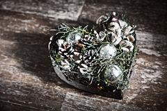 Beautiful homemade Christmas table decoration royalty free stock photos