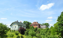 Beautiful homes, Latvia Stock Image
