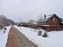 Beautiful homes, Lithuania Stock Image