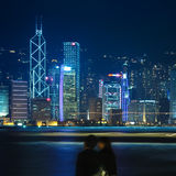 Beautiful hong kong at night Stock Image