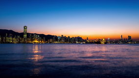 Beautiful Hong Kong Sunset City View. HD Timelapse. stock video footage