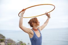 Beautiful Hoop Woman Royalty Free Stock Photo