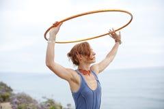 Beautiful Hoop Woman Royalty Free Stock Photo