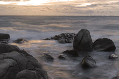 Beautiful horizon beach at dawn Stock Image