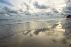 Beautiful horizon beach at dawn Royalty Free Stock Image
