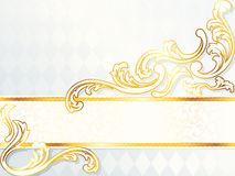 Beautiful horizontal rococo wedding banner Royalty Free Stock Photography