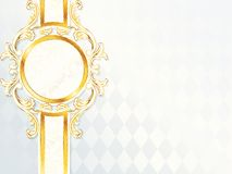 Beautiful horizontal rococo wedding banner Stock Images